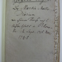 Mack Diary, Title Page