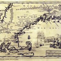 Nieuw Engeland in Twee Scheeptogen door Kapitein Johan Smith inde iaren 1614 en 1615 bestevend. (New England as Described by Captain John Smith in two voyages in 1614 and 1615.)