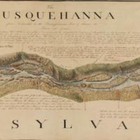 Section of Latrobe survey of the Lower Susquehanna