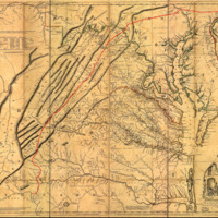1751 Fry-Jefferson map depicting 'The Great Waggon Road to Philadelphia