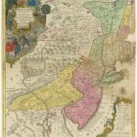 Pensylvania Nova Jersey et Nova York cum Regionibus ad Fluvium Delaware in America sitis ...